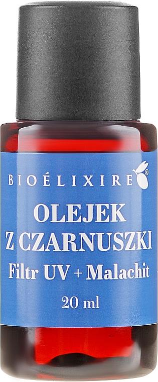 Sérum de cabello con aceite de comino negro - Bioelixire Black Seed Oil UV Filter + Malachite (mini)