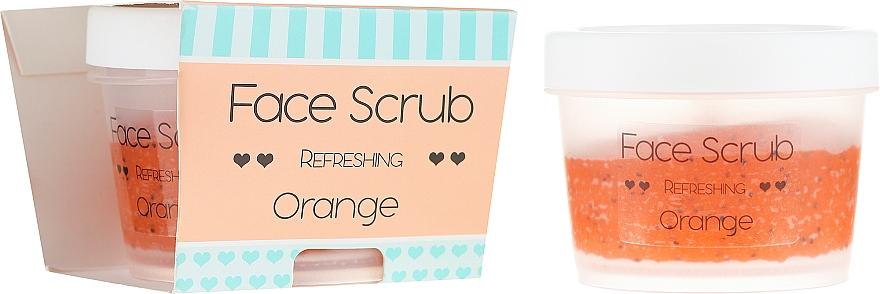 Exfoliante facial y labial con aceite de jojoba - Nacomi Refreshing Face Orange