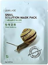 Perfumería y cosmética Mascarilla facial con baba de caracol - Lebelage Snail Solution Mask