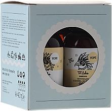 Perfumería y cosmética Set de viaje - Yope (bálsamo corporal/40ml + gel de ducha/40ml + champú/40ml + acondicionador/40ml)