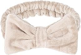 Perfumería y cosmética Cinta de pelo cosmética, beige - Makeup Beige Hair Band Wow Bow