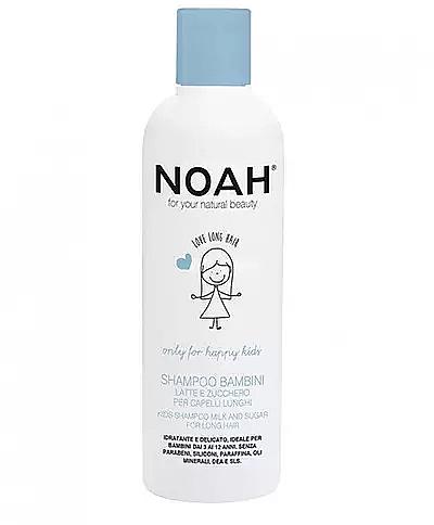 Champú para niños con proteínas de leche y azúcar - Noah Kids Shampoo milk & sugar for long hair