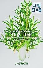 Perfumería y cosmética Mascarilla natural de algodón con extractos de árbol de té & camelia - The Saem Natural Tea Tree Mask Sheet