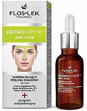 Perfumería y cosmética Peeling facial restaurador de noche con ácido mandélico, niacinamida - Floslek Dermo Expert Anti Acne Peeling