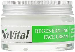 Perfumería y cosmética Crema facial regeneradora con aceite de semilla de uva y ácido hialurónico - DeBa Bio Vital Regenerating Face Cream