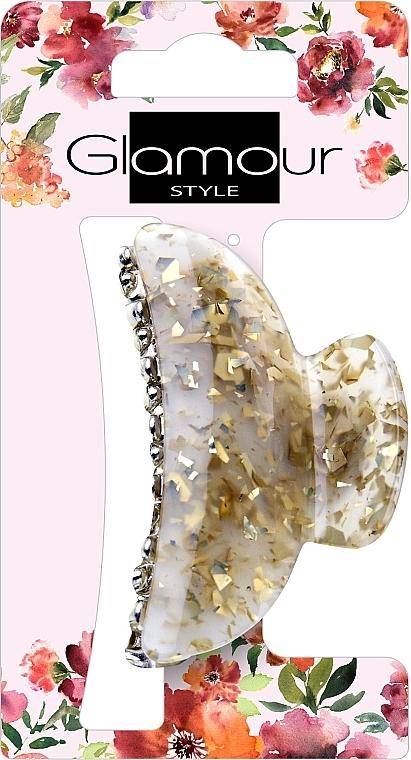 Pinza de pelo, dorada con piedras - Glamour, 417624