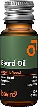 Perfumería y cosmética Aceite natural de barba con aroma a cedro, pino y bergamota - Beviro Beard Oil Bergamia Wood