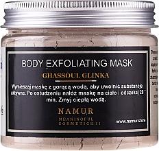 Perfumería y cosmética Mascarilla corporal exfoliante con arcilla ghassoul - Namur Body Exfoliating Ghassoul Clay