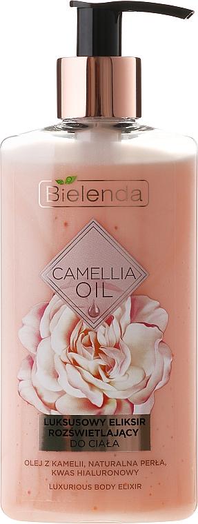 Elixir corporal con aceite de camelia y marula, perla natural y ácido hialurónico - Bielenda Camellia Oil Luxurious Body Elixir
