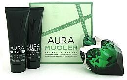 Perfumería y cosmética Mugler Aura Mugler - Set (eau de parfum/50ml + loción corporal/50ml + gel de ducha/50ml)