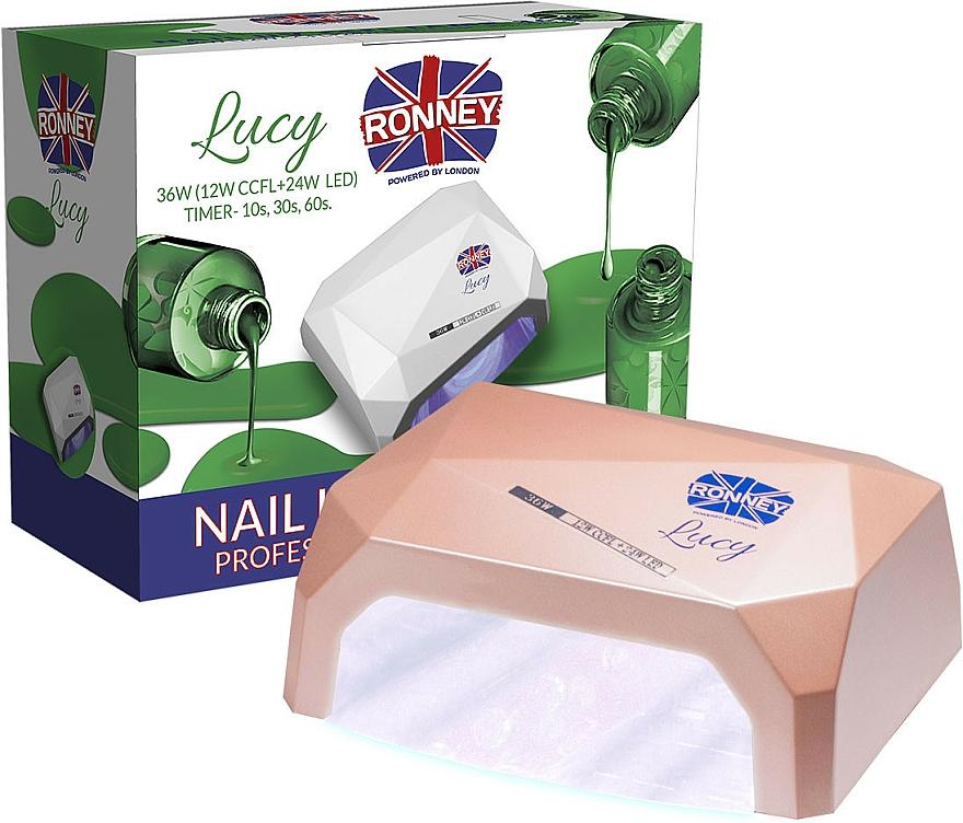 Lámpara CCFL+LED para manicura, marrón - Ronney Profesional Lucy CCFL + LED 36W (GY-LCL-021) Lamp