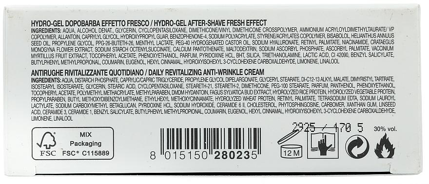 Set de afeitar con vitamina A, B6 y E - Collistar (gel aftershave/100ml + crema/30ml) — imagen N4