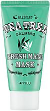 Perfumería y cosmética Mascarilla facial calmante de noche con extracto de árbol de té - A'pieu Fresh Mate Tea Tree Mask