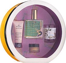 Perfumería y cosmética Set (aceite seco/100ml + crema de manos/30ml + bálsamo labial/15ml + vela) - Nuxe Culte Prodigieux Box