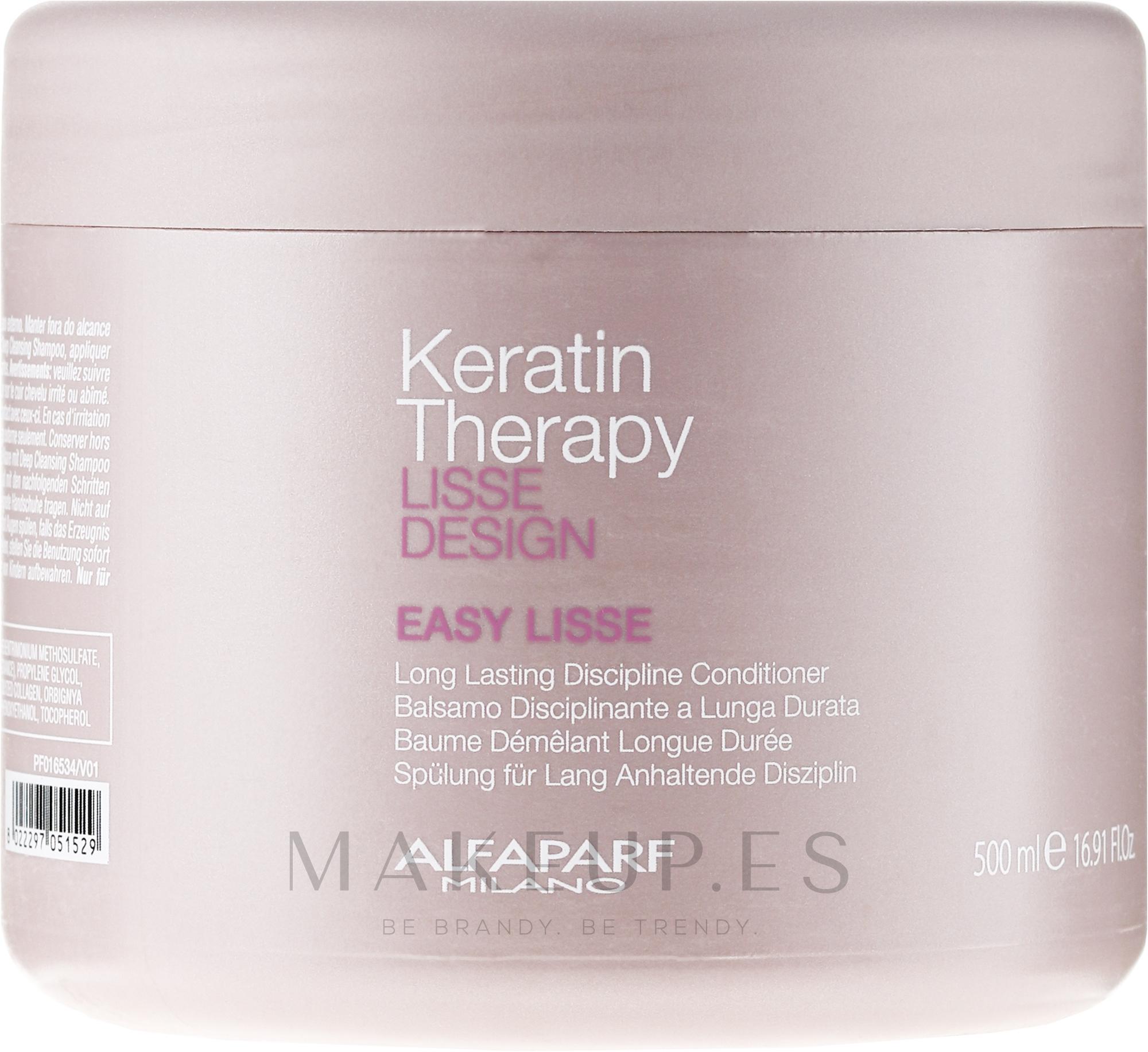 Acondicionador con queratina hidrolizada - Alfaparf Lisse Design Keratin Therapy Easy Lisse — imagen 500 ml