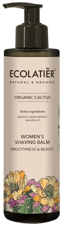 Bálsamo de depilación con extracto de cactus orgánico - Ecolatier Organic Cactus Women's Shaving Balm