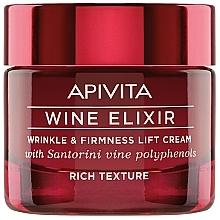 Perfumería y cosmética Crema facial reparadora con vino polifenólico Santorini, enriquecida - Apivita Wine Elixir Wrinkle And Firmness Lift Cream Rich Texture