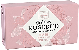 Perfumería y cosmética Jabón sólido con vitamina E y aceite de rosa mosqueta, aroma a rosa - Scottish Fine Soap Gilded Rosebud Luxury Wrapped Soap