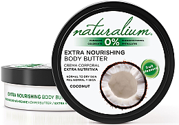Perfumería y cosmética Manteca corporal nutritiva con aceite de coco - Naturalium Coconut Extra Nourishing Body Butter