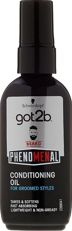 Aceite para barba de argán, macadamia y almendra - Schwarzkopf Got2b Phenomenal Beard Conditioning Oil