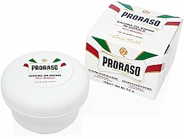 Perfumería y cosmética Jabón de afeitado con té verde & avena - Proraso White Shaving Soap