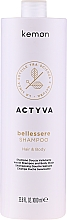 Perfumería y cosmética Champú suavizante para cabello y cuerpo con aceites de argán y lino - Kemon Actyva Bellessere Shampoo