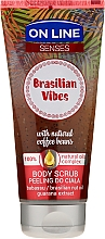 Perfumería y cosmética Exfoliante corporal con granos de café & aceite de babasú - On Line Senses Body Scrub Brasilian Vibes