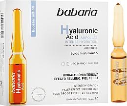Perfumería y cosmética Booster facial con ácido hialurónico en ampollas - Babaria Hyaluronic Acid Ampoule
