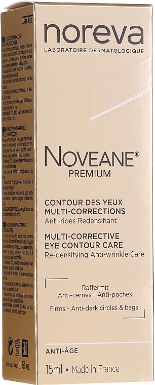 Crema correctora para contorno de ojos con extracto de alfalfa - Noreva Laboratoires Noveane Premium Multi-Corrective Eye Care
