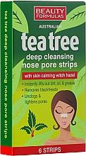 Perfumería y cosmética Tiras limpiadoras de poros con extracto de hamamelis - Beauty Formulas Tea Tree Deep Cleansing Nose Pore Strips