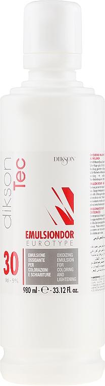 Emulsión oxidante profesional, 9% - Dikson Tec Emulsiondor Eurotype 30 Volumi