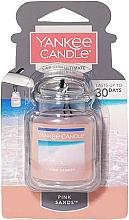 Perfumería y cosmética Ambientador de coche con aceite de naranja - Yankee Candle Car Jar Ultimate Pink Sands
