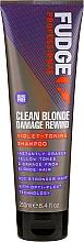 Perfumería y cosmética Champú antiamarillo de doble acción para un cabello más rubio y fuerte - Fudge Clean Blonde Damage Rewind Shampoo