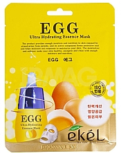 Perfumería y cosmética Mascarilla facial de tejido con extracto de yema de huevo - Ekel Egg Ultra Hydrating Mask