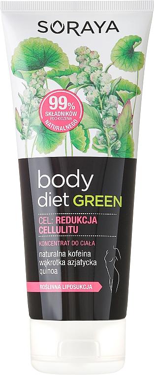 Tratamiento anticelulítico natural con extracto de cafeína - Soraya Body Diet Green
