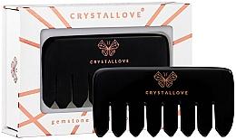 Perfumería y cosmética Peine de masaje de cuero cabelludo de obsidiana - Crystallove