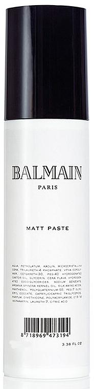 Masilla de fijación matificante a base de agua y proteínas de seda, con fragancia - Balmain Matt Paste