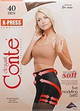 Perfumería y cosmética Pantis X-press, 40 Den, efecto bronceado - Conte