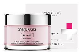 Perfumería y cosmética Mascarilla facial detoxificante con ácido hialurónico y AHA - Symbiosis London In Depth Detoxifying & Oxygenating Mask