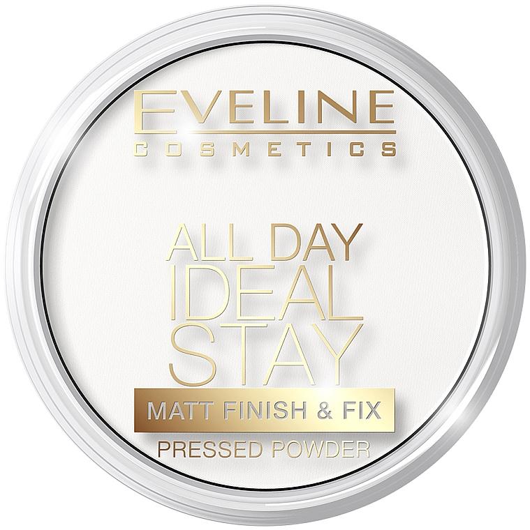 Polvo prensado fijador de arroz con efecto mate para pieles grasas y mixtas - Eveline Cosmetics All Day Ideal Stay Matt Finish & Fix White-60