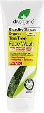 Perfumería y cosmética Gel de limpieza facial con aceite de árbol de té - Dr. Organic Tea Tree Face Wash