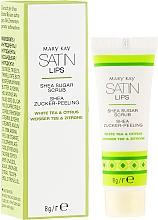Perfumería y cosmética Exfoliante labial de azúcar con manteca de karité, té blanco y cítricos - Mary Kay Satin Lips Shea Sugar Scrub