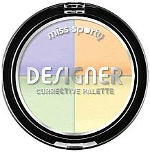 Perfumería y cosmética Corrector facial en polvo, multicolor - Miss Sporty Designer Corrective Palette