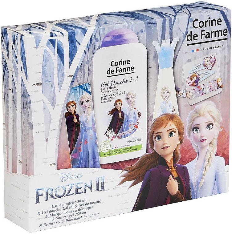 Corine De Farme Disney Frozen 2 - Set para niñas (edt/30ml+gel de ducha/250ml+accesorio)