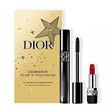 Perfumería y cosmética Set - Dior Diorshow Pump 'N' Volume HD Gift Set (máscara/6ml+barra de labios/1.5g)