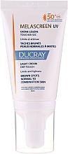 Perfumería y cosmética Crema facial despigmentante SPF 50+ - Ducray Melascreen UV Light Cream SPF 50+