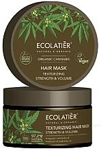 Perfumería y cosmética Mascarilla capilar fortalecedora con aceite orgánico de semilla de cáñamo - Ecolatier Organic Cannabis Hair Mask