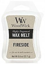 Perfumería y cosmética Cera para lámparas aromáticas, ámbar, vetiver y almizcle - WoodWick Wax Melt Fireside