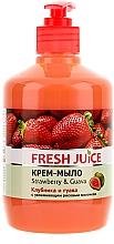 Perfumería y cosmética Jabón cremoso con leche de arroz hidratante con dosificador, fresa y guayaba - Fresh Juice Strawberry&Guava