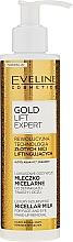 Perfumería y cosmética Agua micelar con ácido hialurónico y ceramidas - Eveline Cosmetics Gold Lift Expert